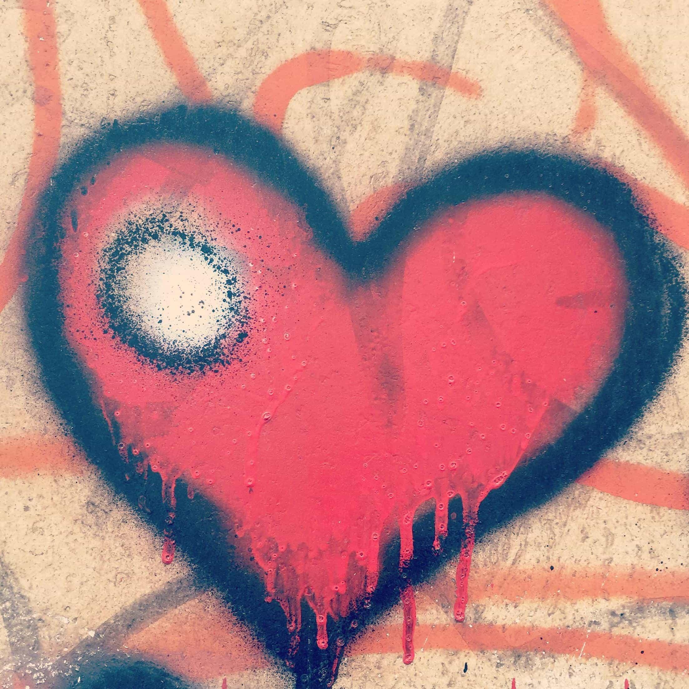 Free picture graffiti heart paper artistic art love