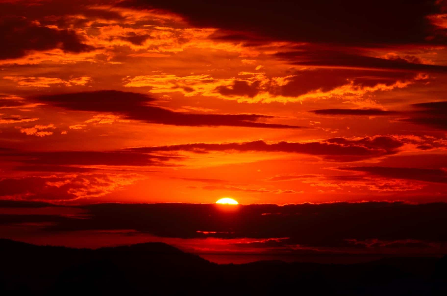 Free picture sunrise shadow darkness dark red dawn