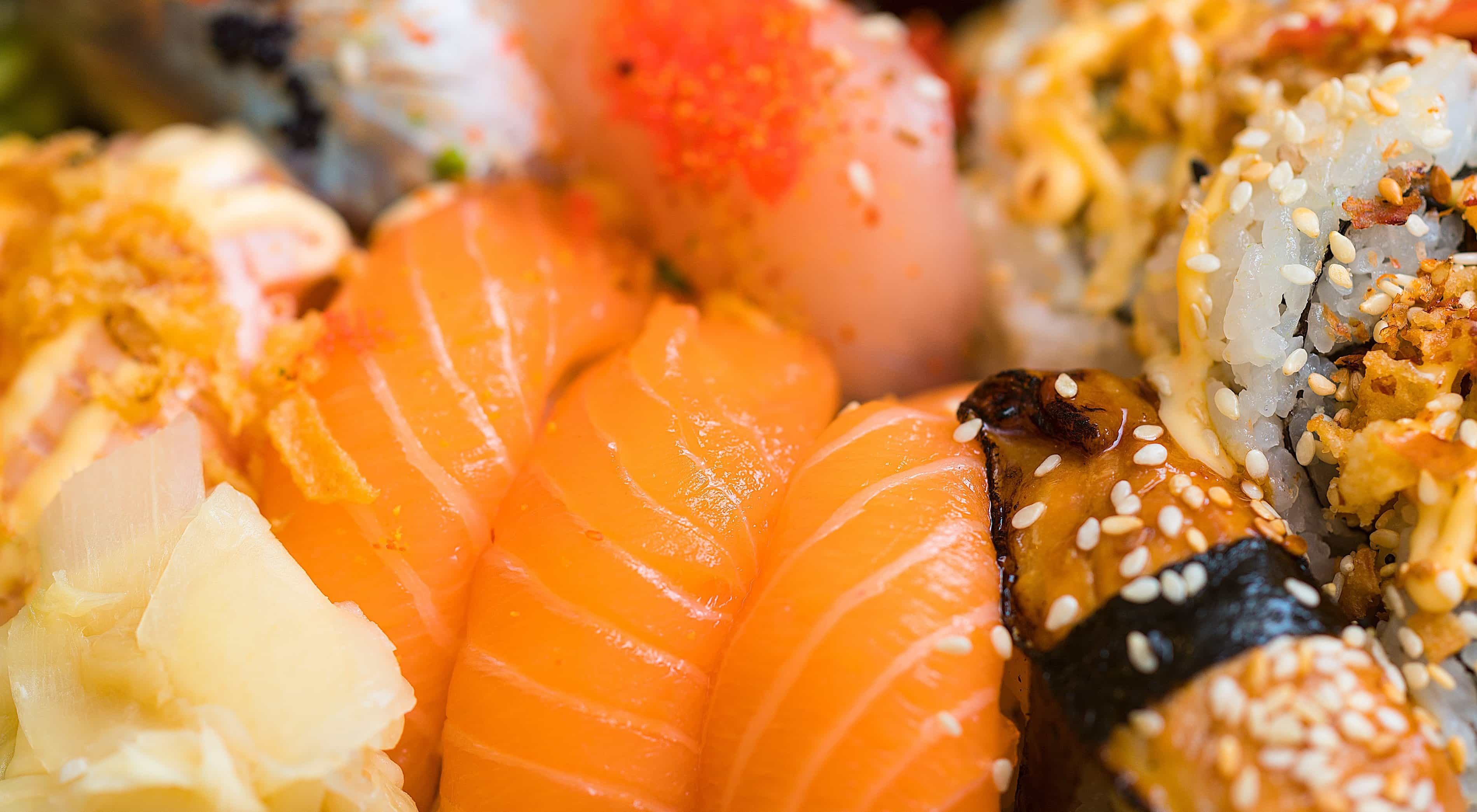 Free picture sushi shrimp fish salmon seafood rice tuna dinner food