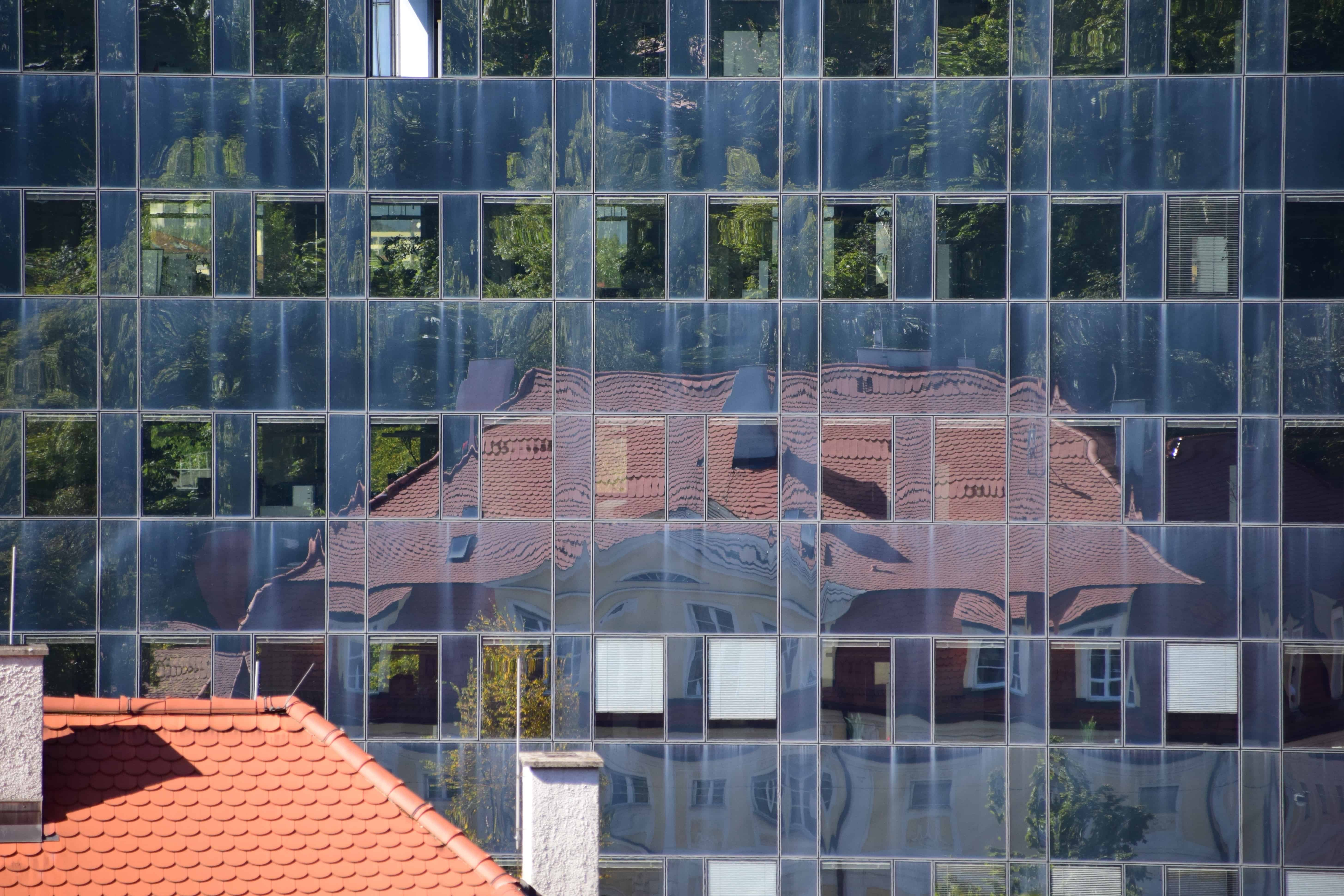 Free picture house window reflection architecture