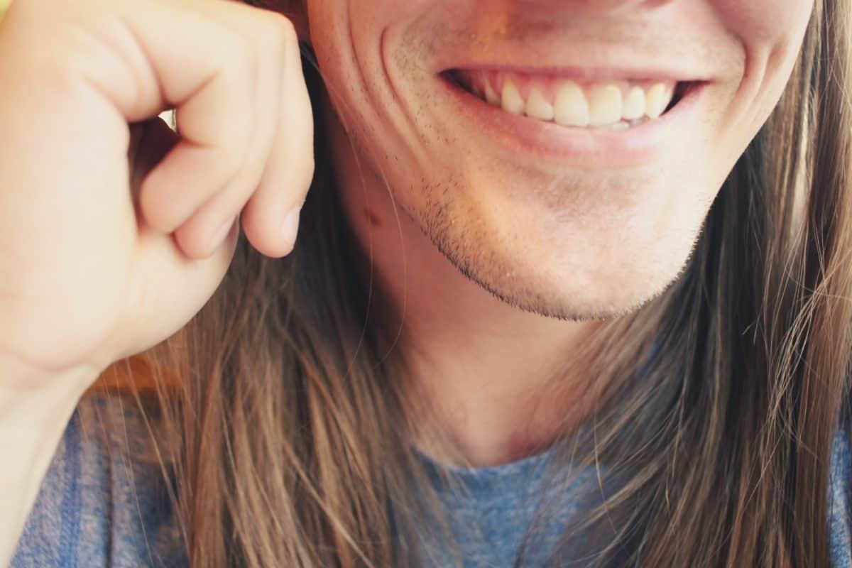 Free picture pretty adolescent man mouth smile cute