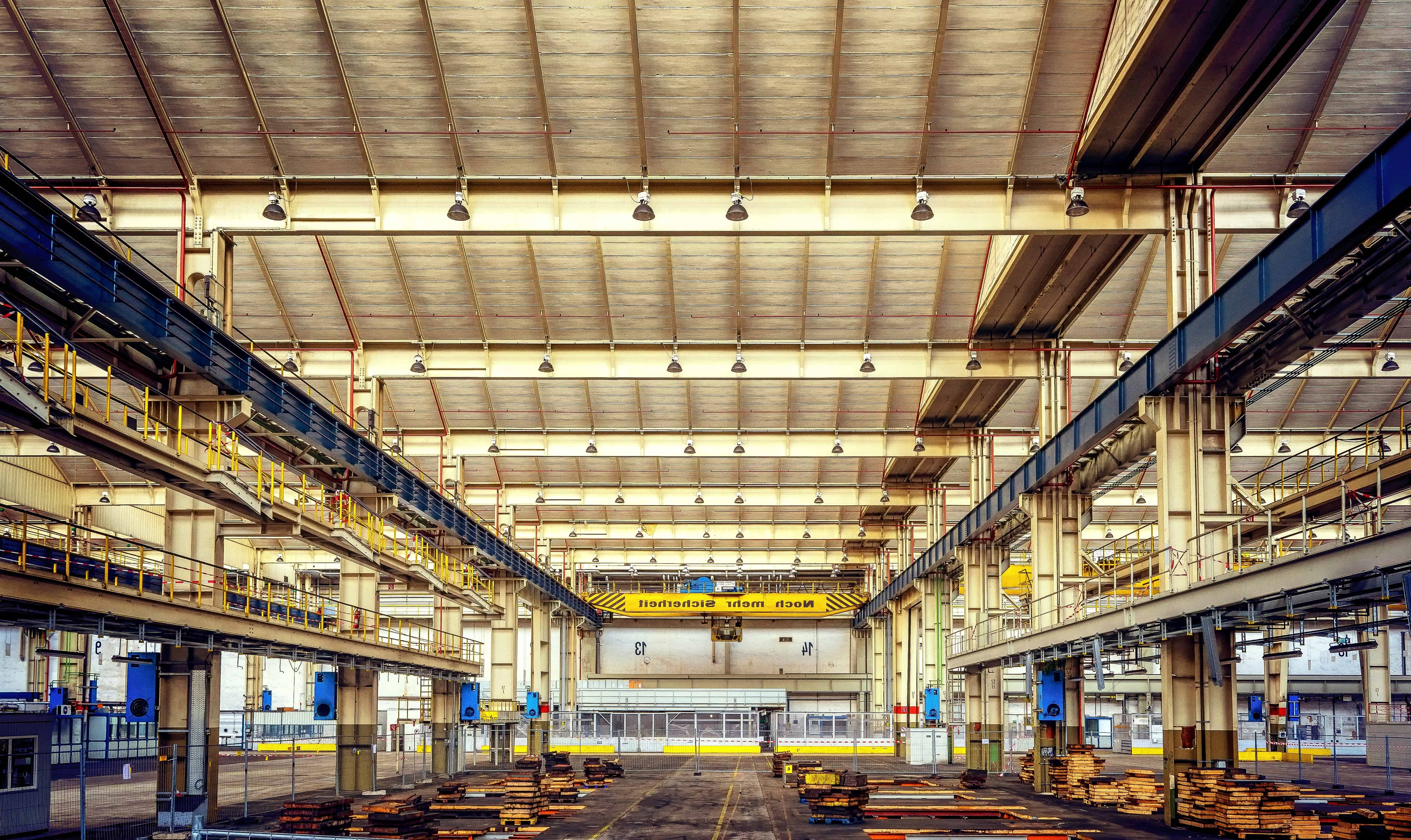 Free picture steel industry warehouse architecture hall metal