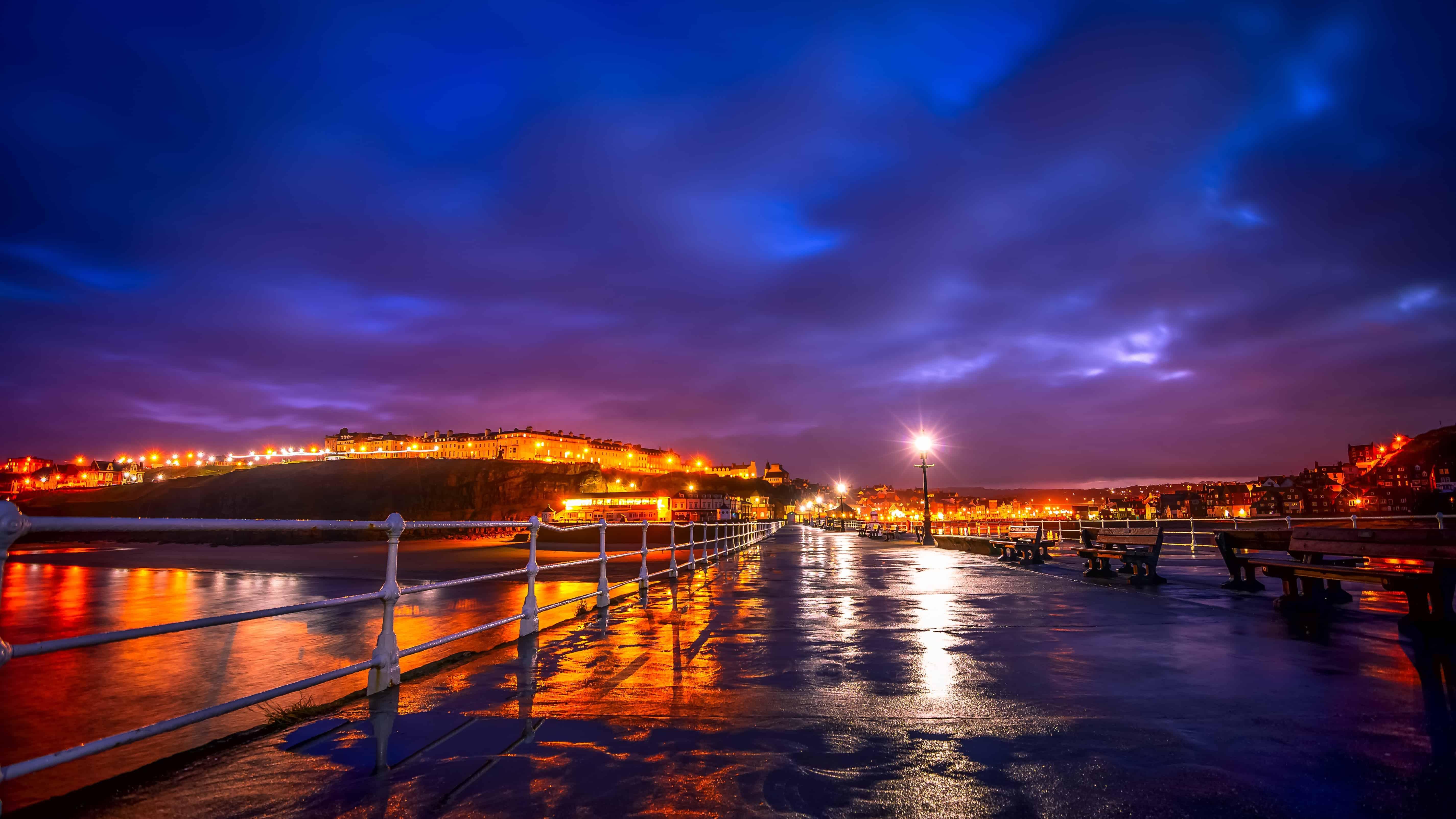 Sea Sunset Wallpaper Hd Free Picture Sunset Bridge City Reflection Dusk