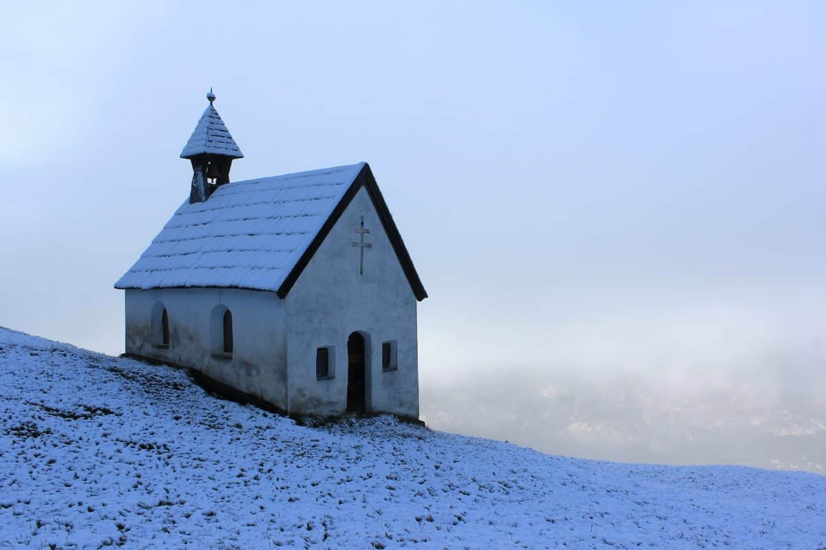 Wallpaper Full Color Hd Free Picture Winter Blue Sky Snow Church Tower