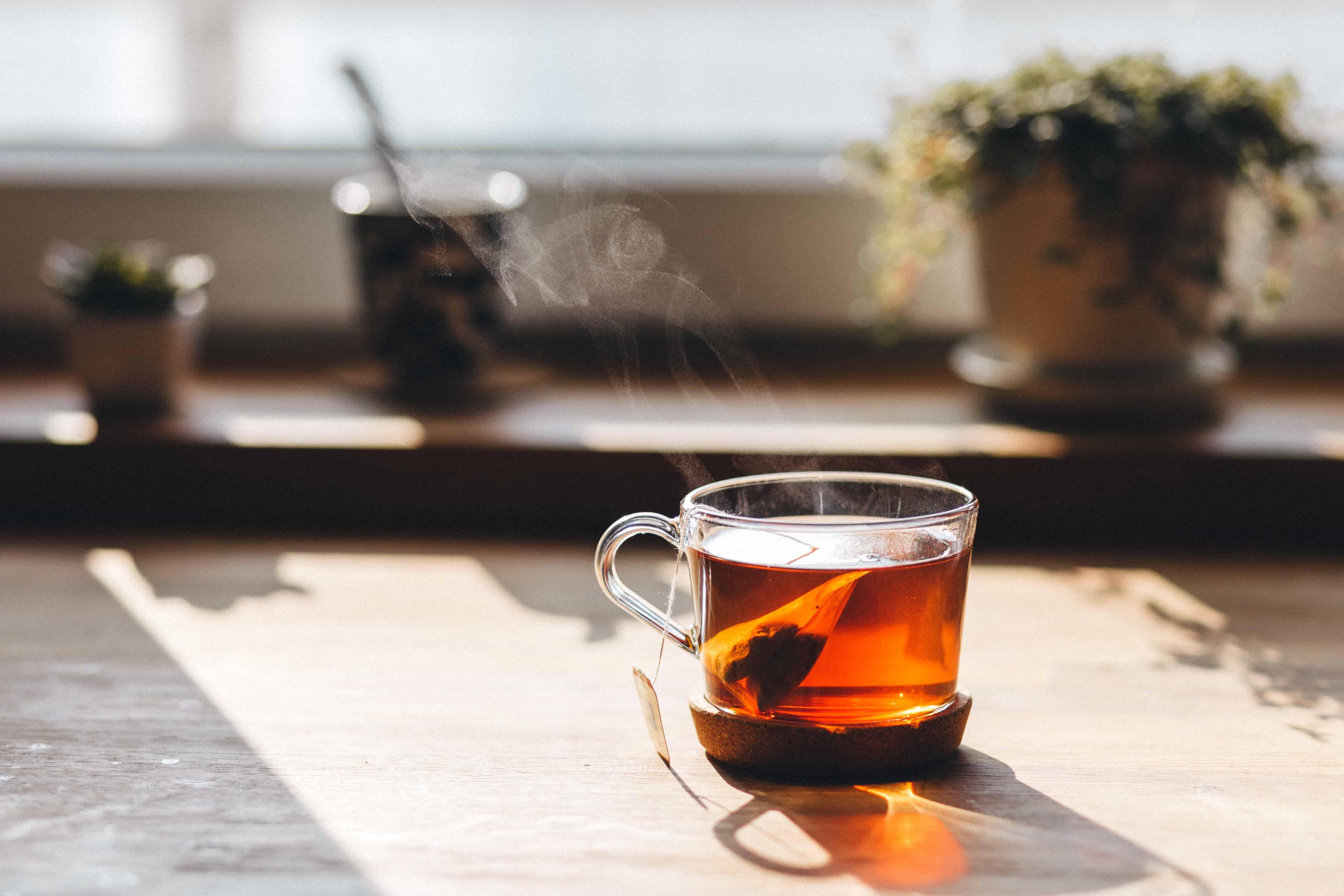 Free picture window tea cup table breakfast drink