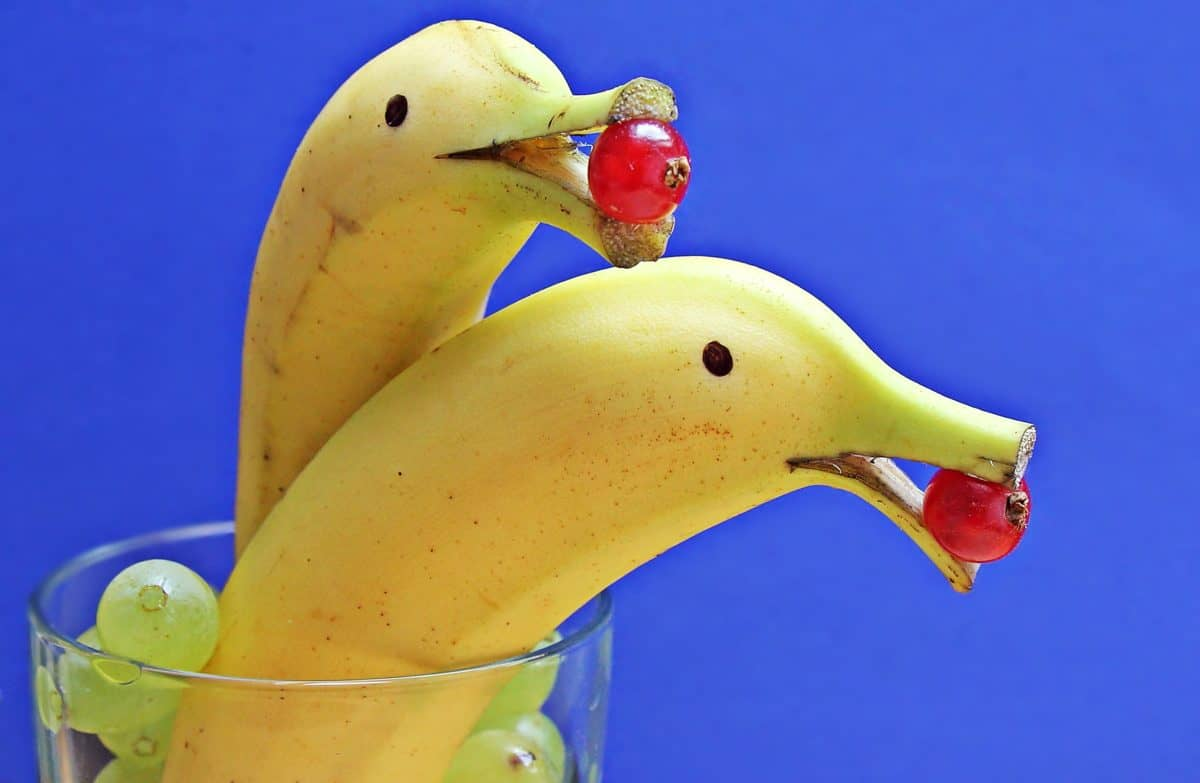 Free picture glass decoration food banana fruit art