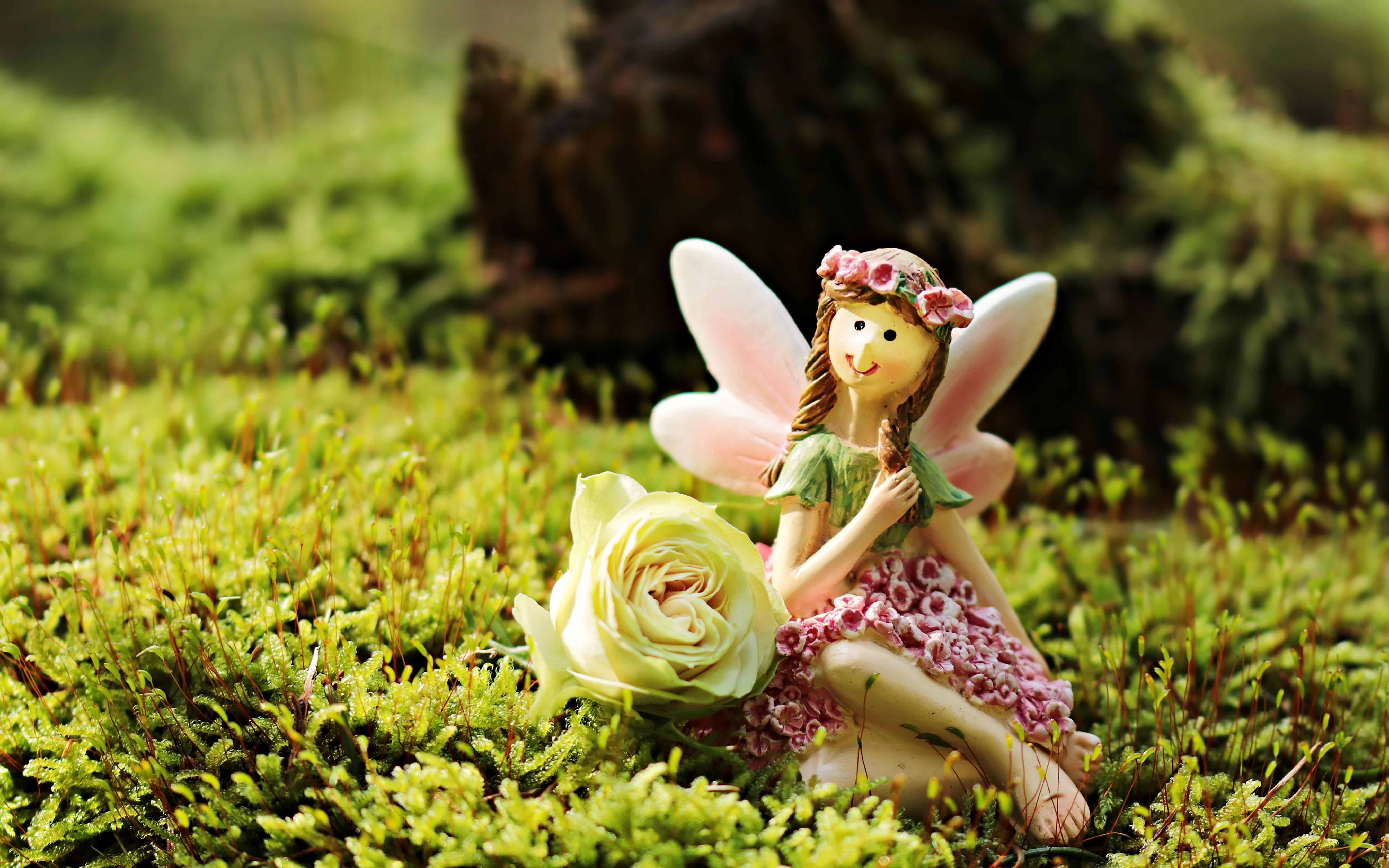 Free picture toy object grass fairy girl spring