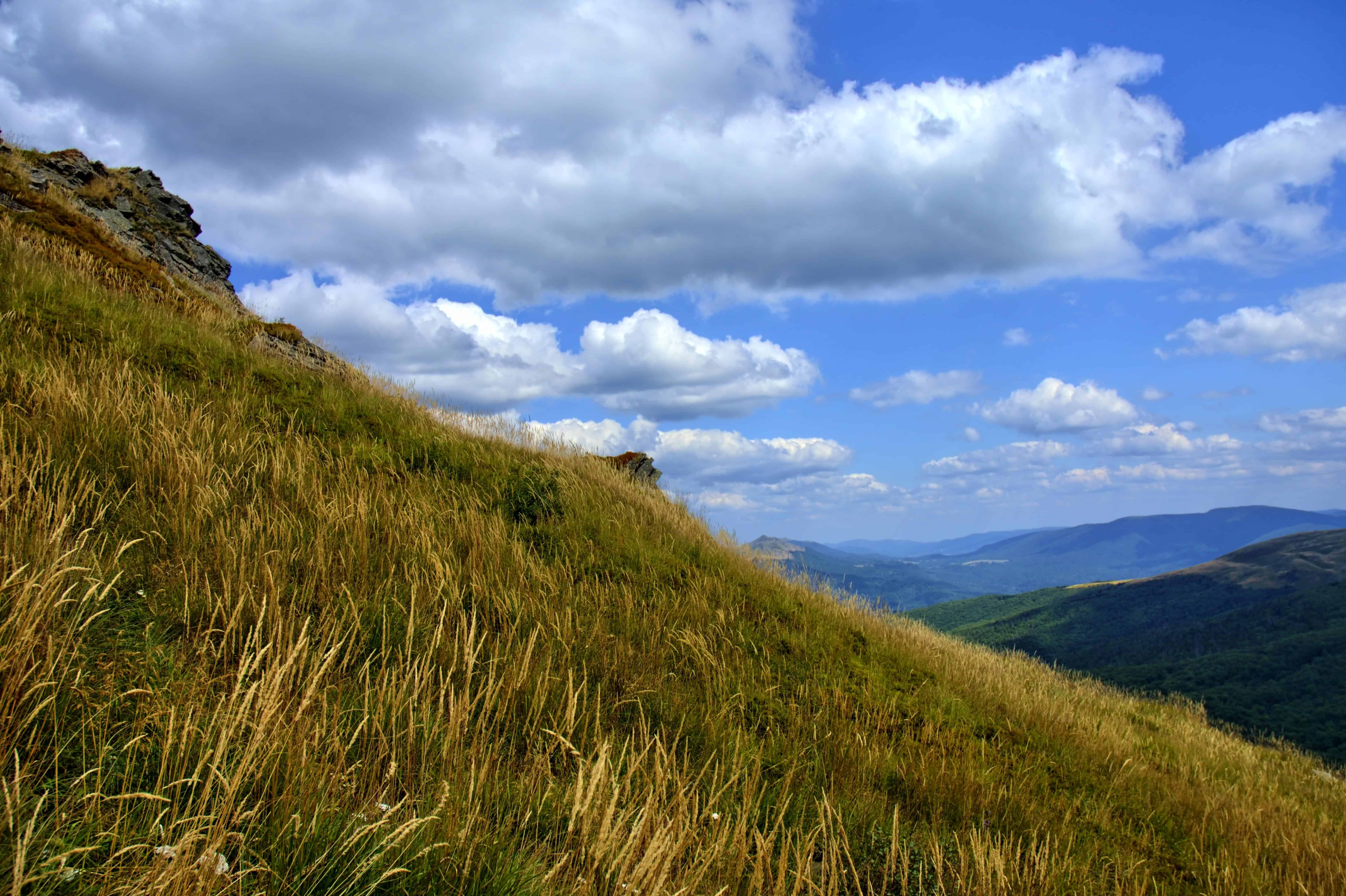Blue Wallpaper Hd Download Free Picture Mountain Grass Sky Landscape Nature