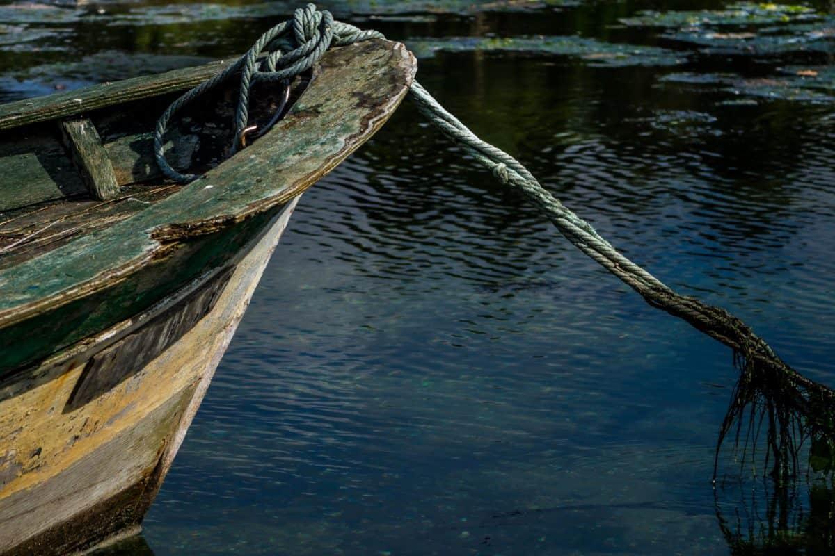Free Picture Lake Boat Watercraft Rope Sea Water