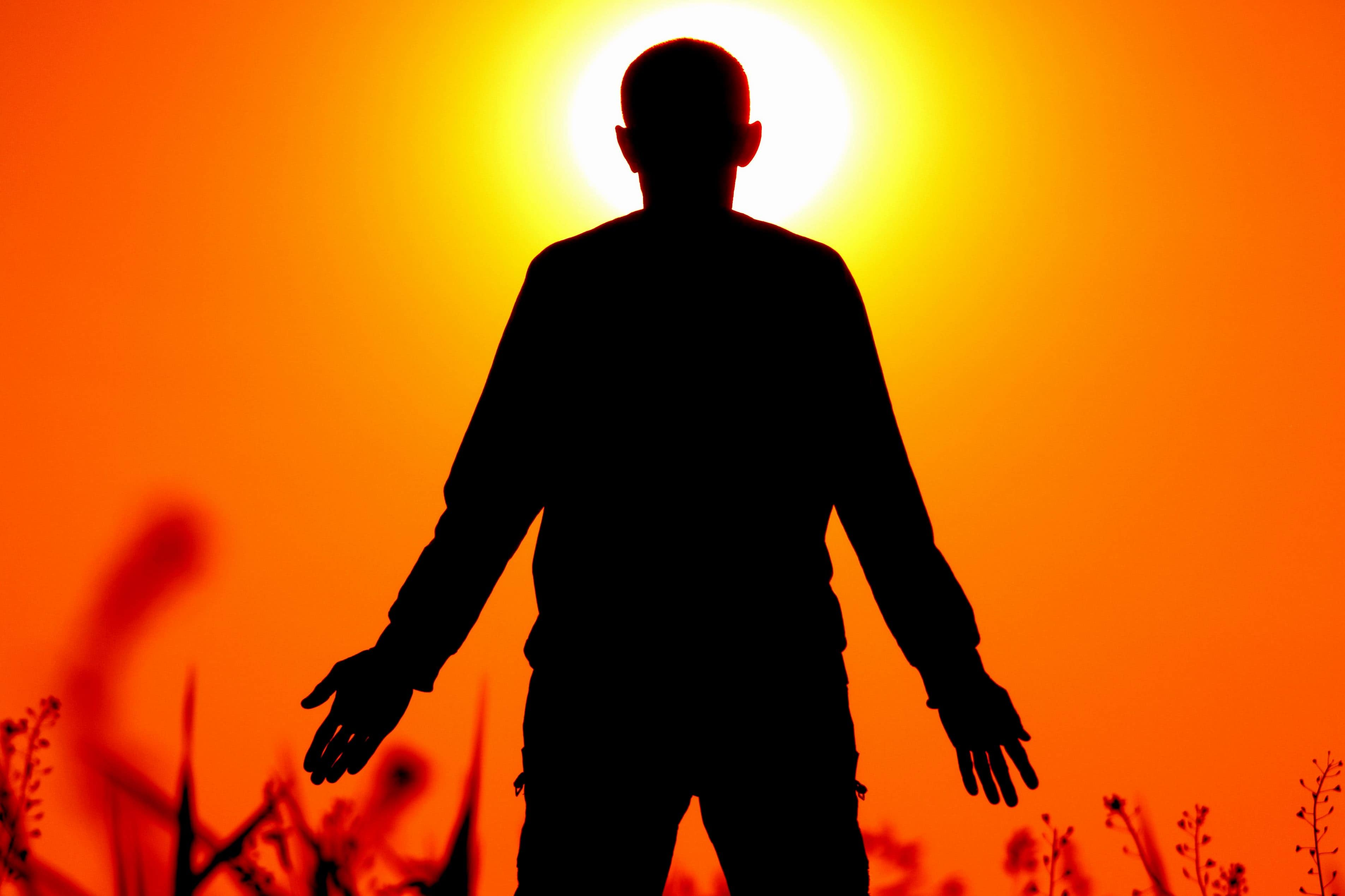 Gambar gratis siluet orang bayangan manusia tangan