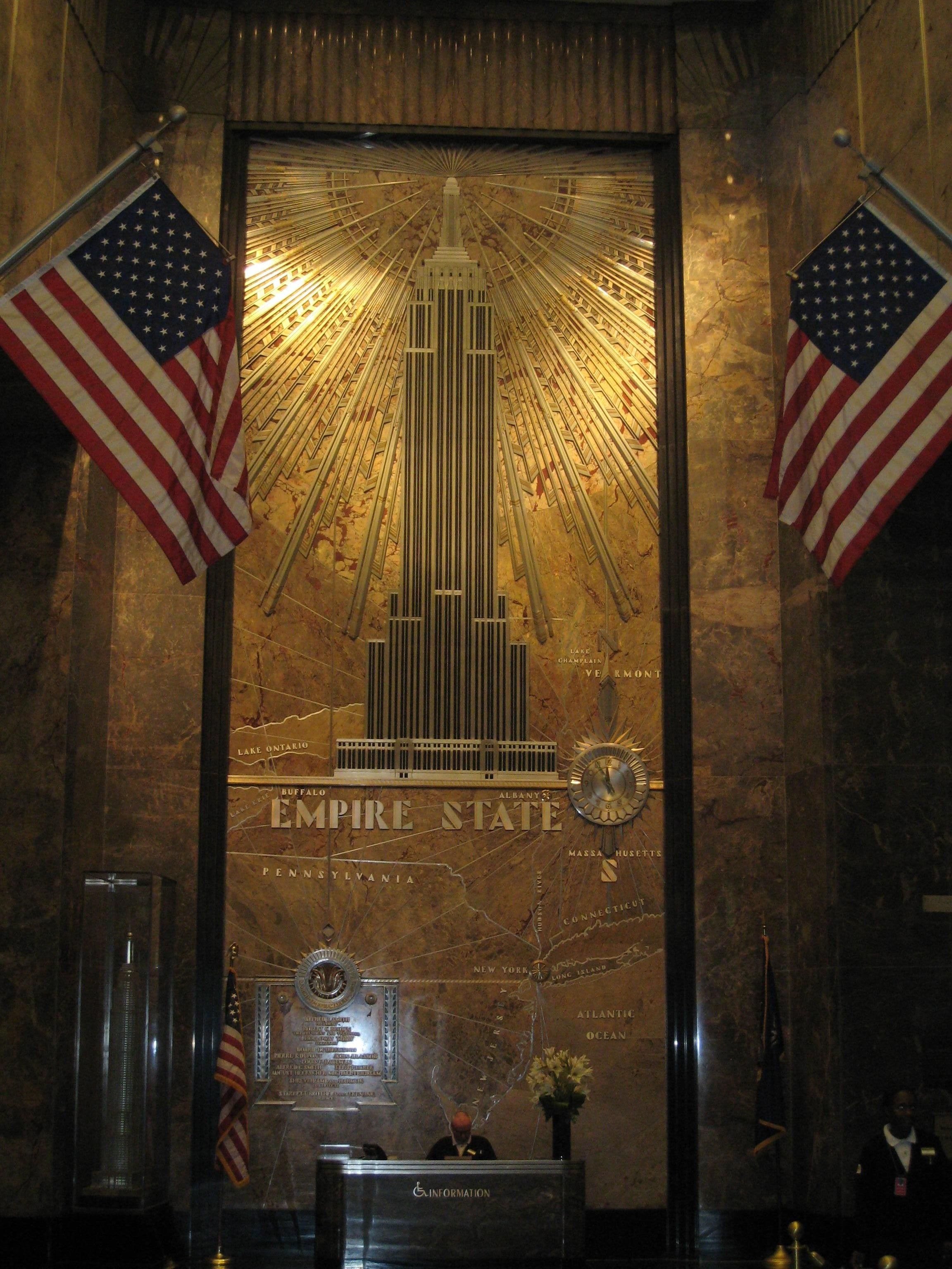 Free Picture Mural Lobby Empire State Building New