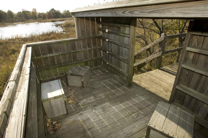 Free picture wooden structure observation duck blind