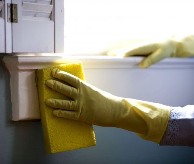 Window Cleaning Protective Rubber Gloves Washing Windows