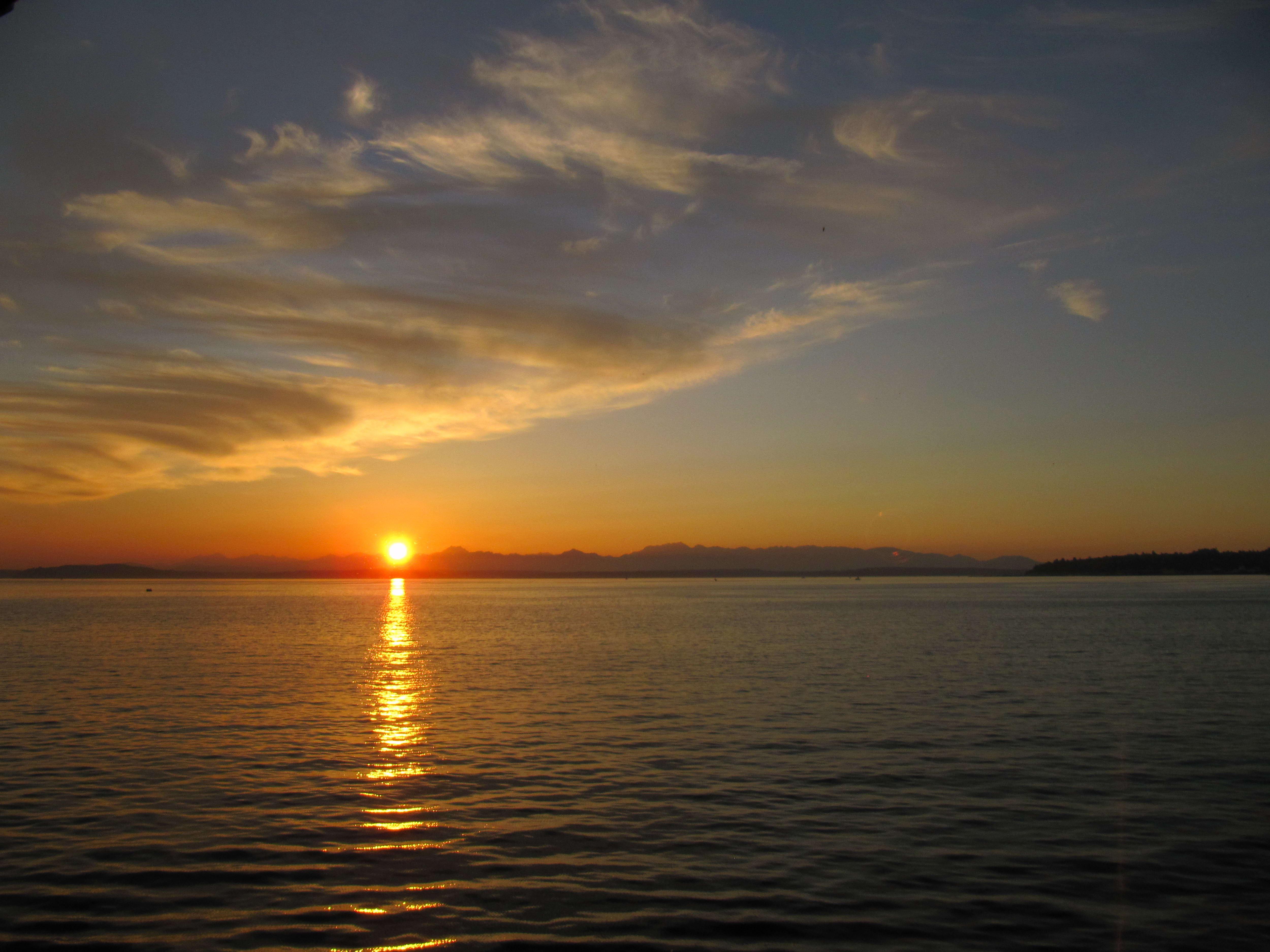 Landscape Wallpaper Hd Free Picture Sunrise Water Seattle