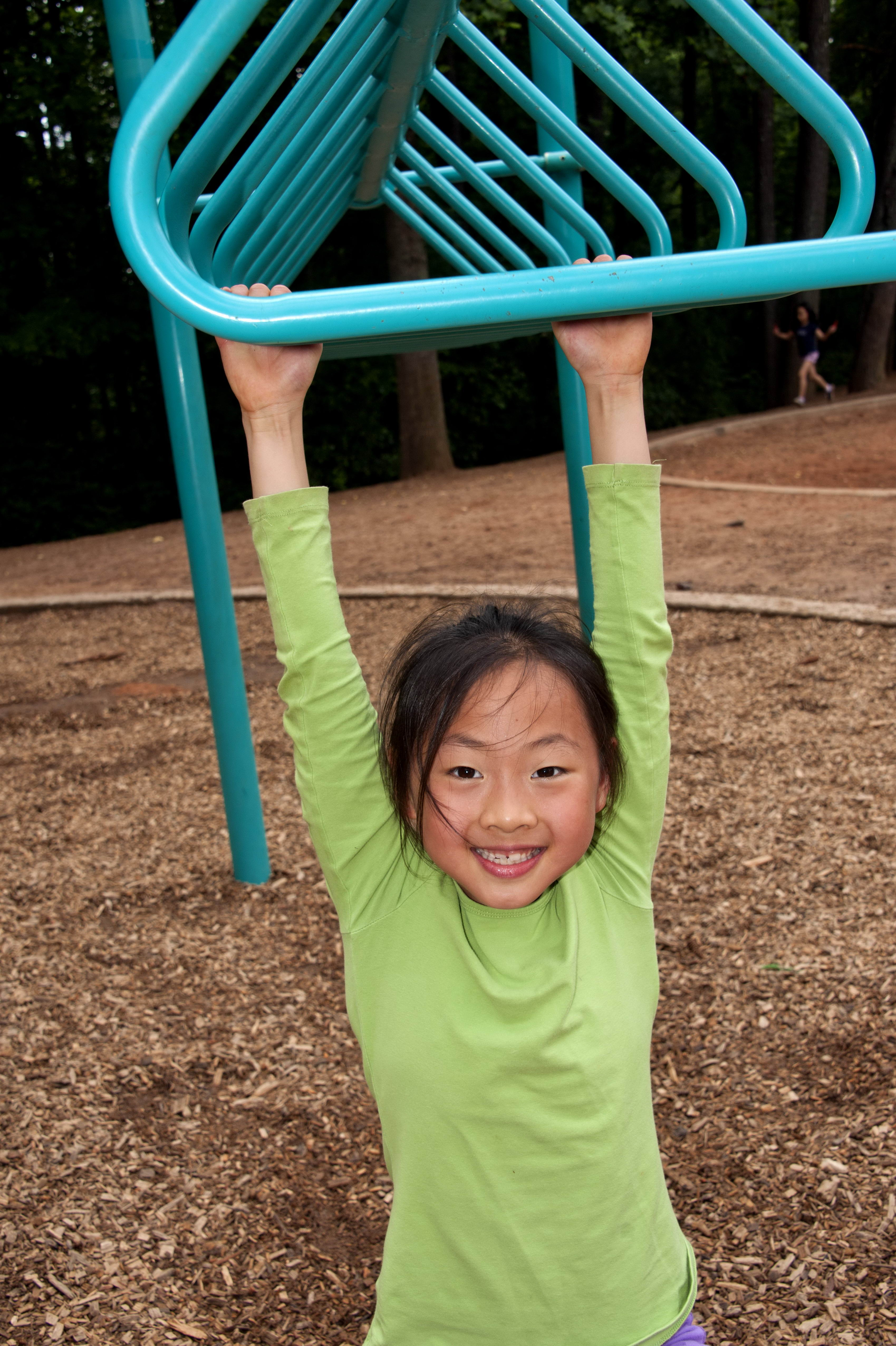 Free Picture Asian American Girl Photographed Outdoor Physical Education Class