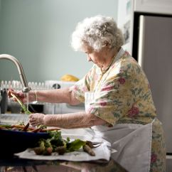 Kitchen Cleaning Custom Island Free Picture: Elderly, Woman, Kitchen, Cleaning, Carrots ...