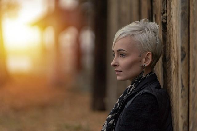 porträtt av kvinna på Sågudden Arvika