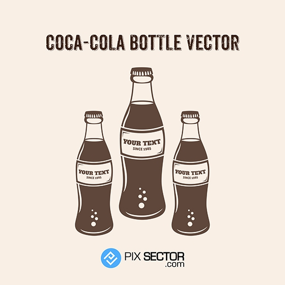 coca cola bottle vector