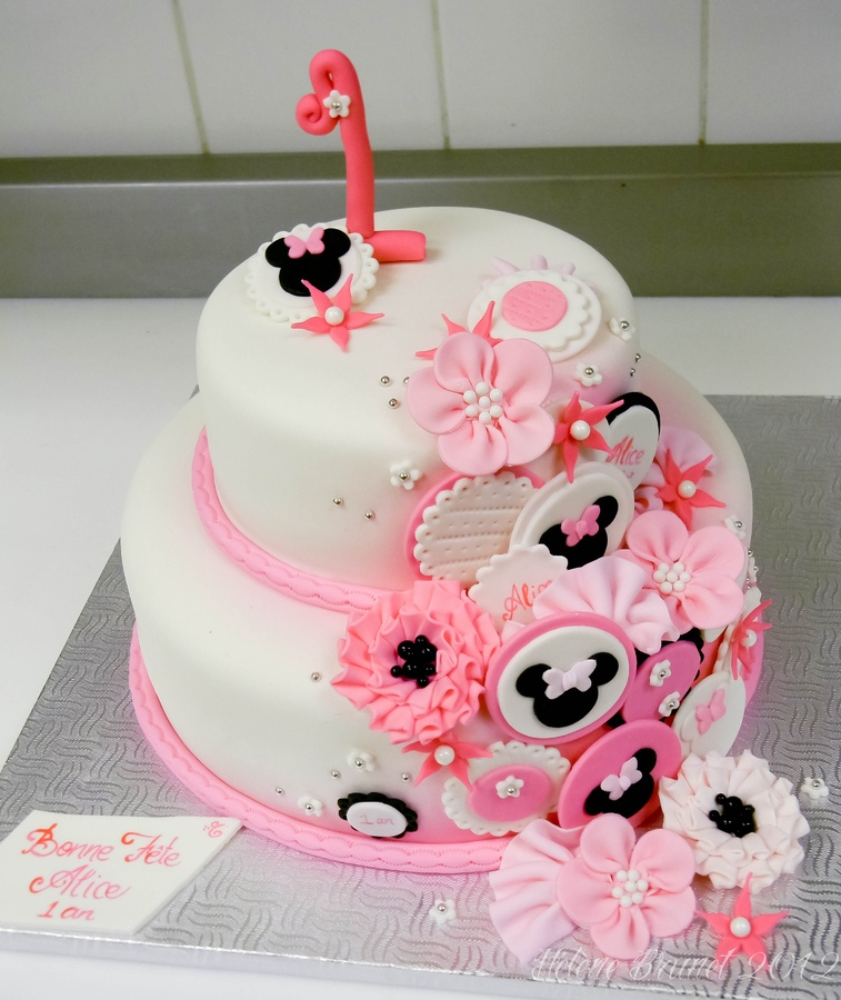 Minnie Mouse 1st Birthday Cake Free Image