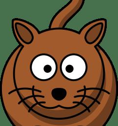 cartoon brown cat clipart [ 3333 x 5230 Pixel ]