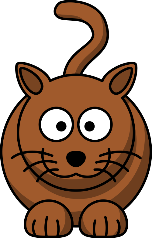 small resolution of cartoon brown cat clipart