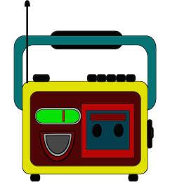 clipart radio and tape together free download [ 2638 x 2850 Pixel ]
