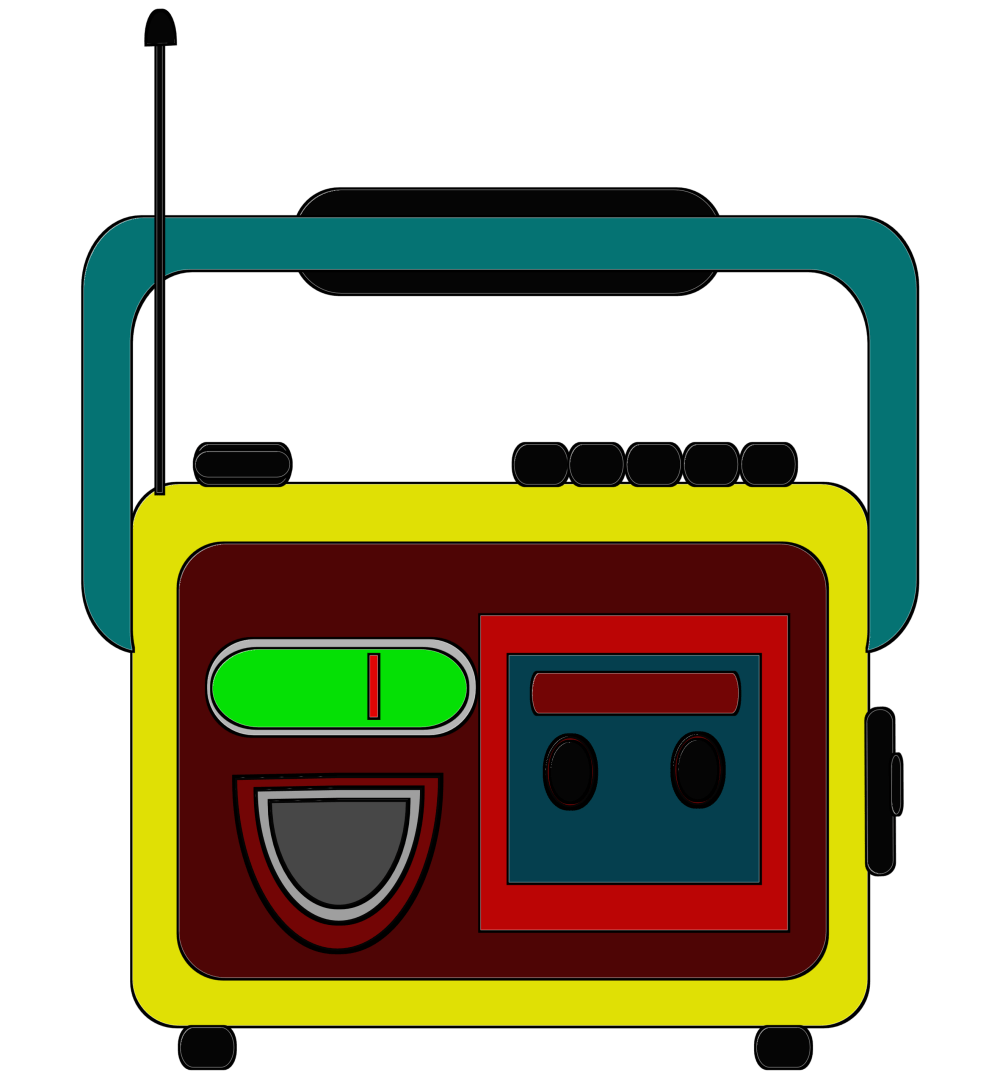 medium resolution of clipart radio and tape together free download