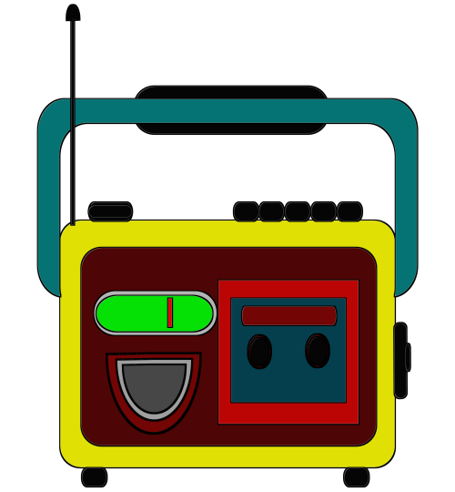 small resolution of clipart radio and tape together free download