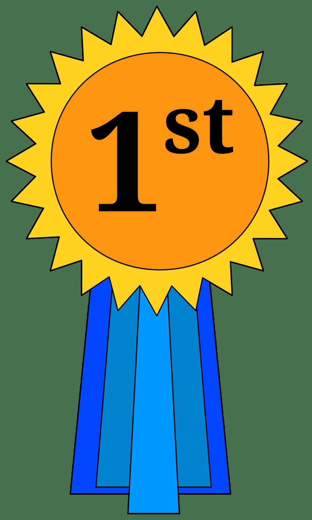 medium resolution of 1st place award ribbon clipart placepng