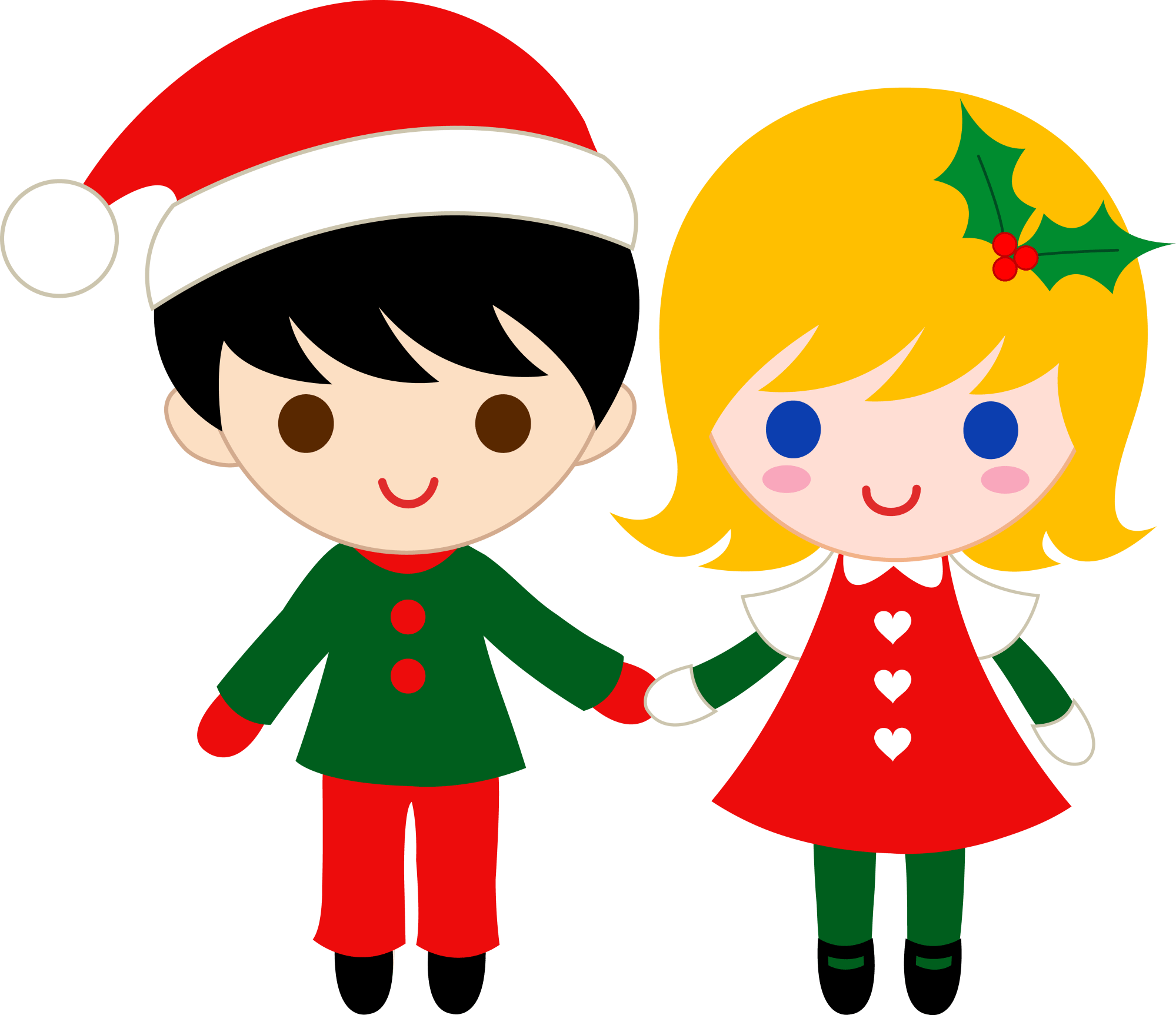 hight resolution of cute christmas kids free clipart free download
