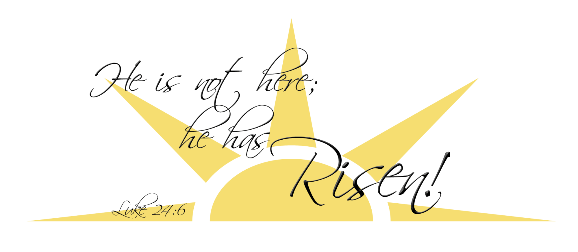 hight resolution of he has risen clip art n2 free download