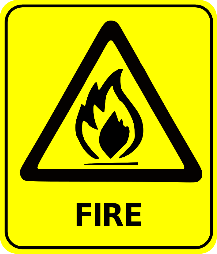 fire safety signs and