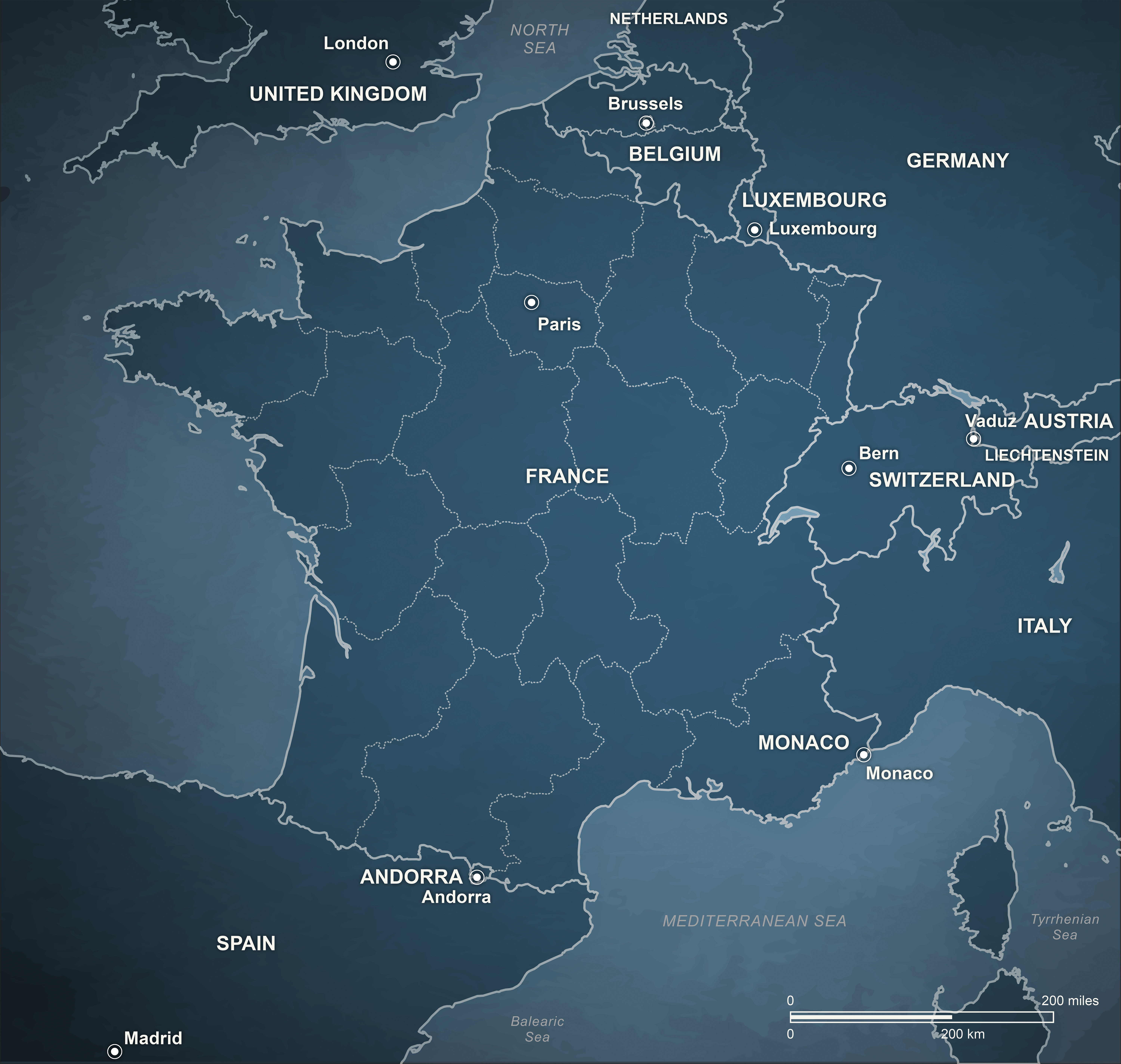 Political Map Picture France Geography Free Image