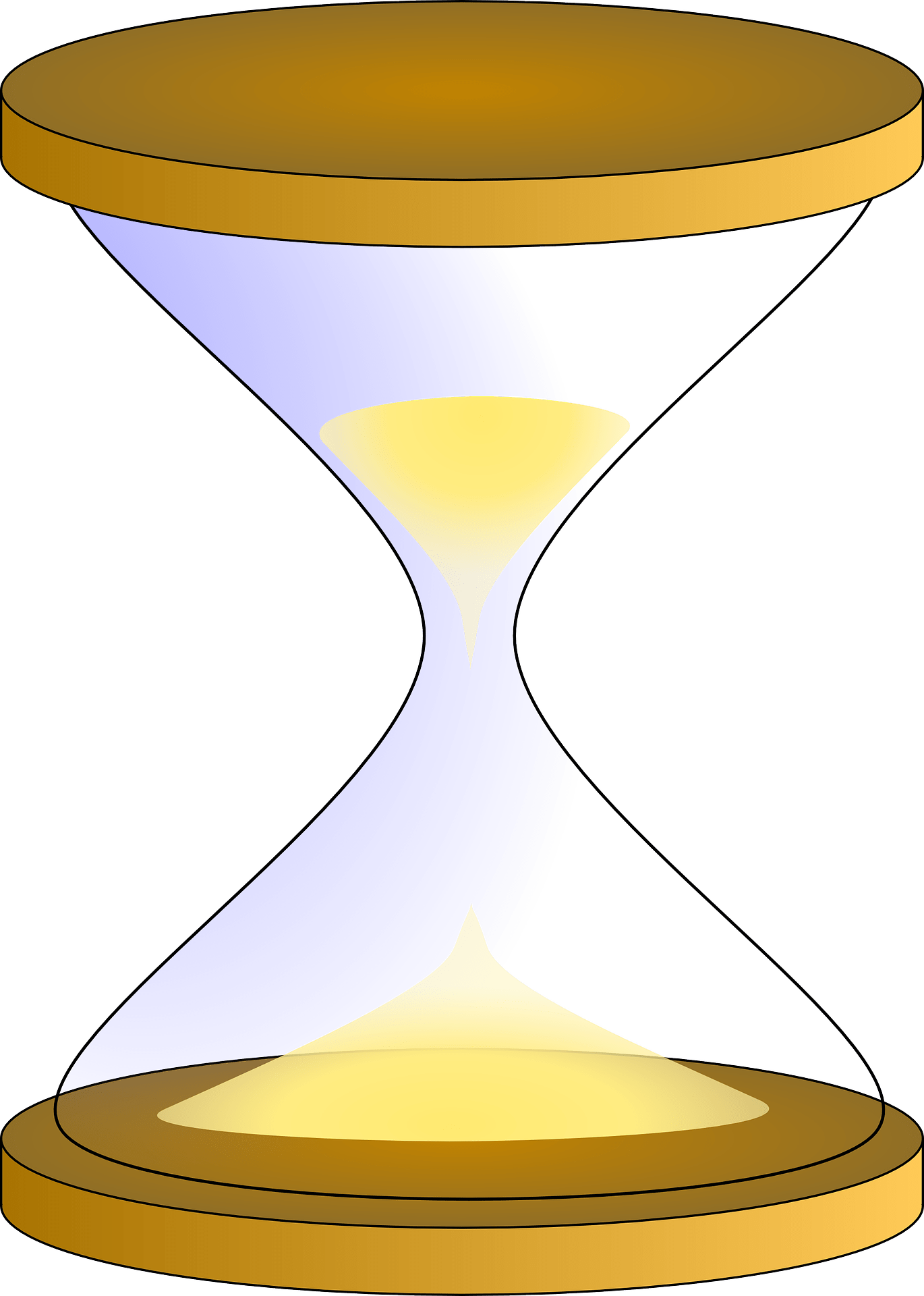 hight resolution of yellow hourglass clipart
