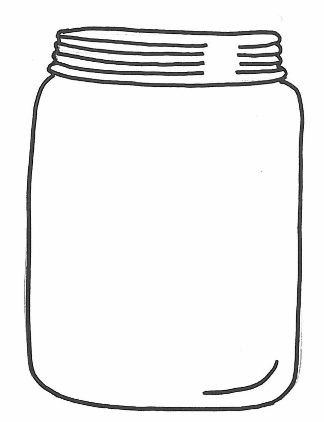 Mason Jar Coloring Page drawing free image download