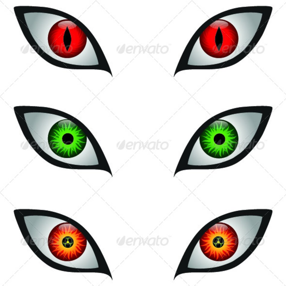hight resolution of scary monster eyes