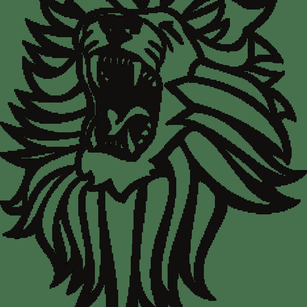 medium resolution of roaring lion clip art black and white
