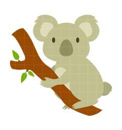 koala bear clip art n30 [ 950 x 950 Pixel ]