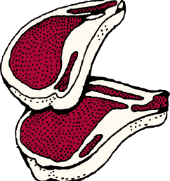 clipart picture of red steak meat of young lamb [ 1725 x 1920 Pixel ]