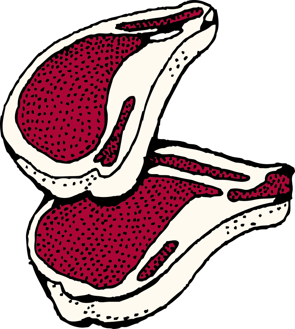 medium resolution of clipart picture of red steak meat of young lamb