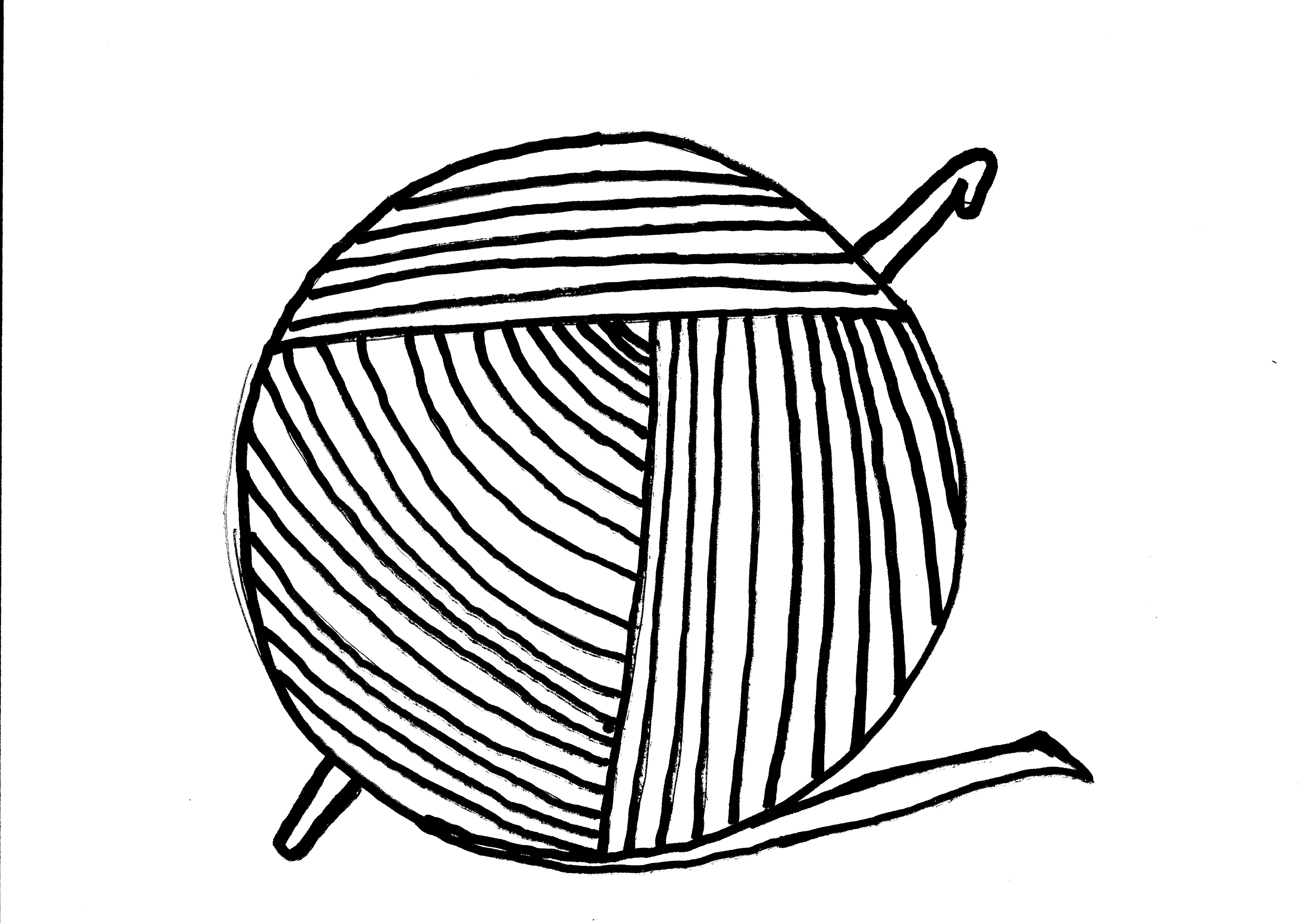 Yarn ball and crochet hook free image