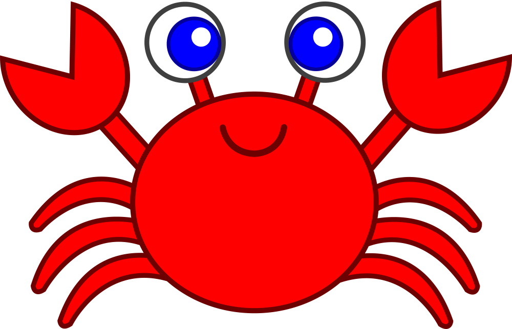 medium resolution of cute red crab free clipart