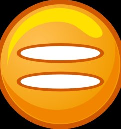 equals sign orange round icon at clkercom vector clipart [ 950 x 950 Pixel ]