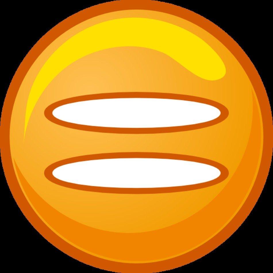 medium resolution of equals sign orange round icon at clkercom vector clipart