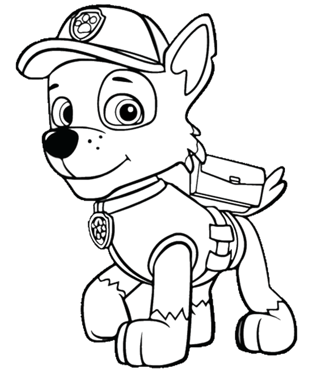 PAW Patrol Coloring Pages drawing free image download