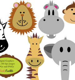 zoo animals clipart wallpaper baby animal clip art clipart free download [ 1000 x 800 Pixel ]
