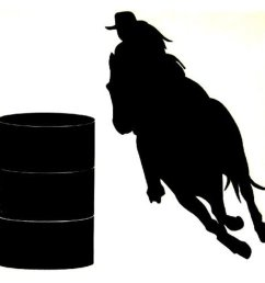 cowgirl barrel racing horse silhouette free images [ 950 x 950 Pixel ]