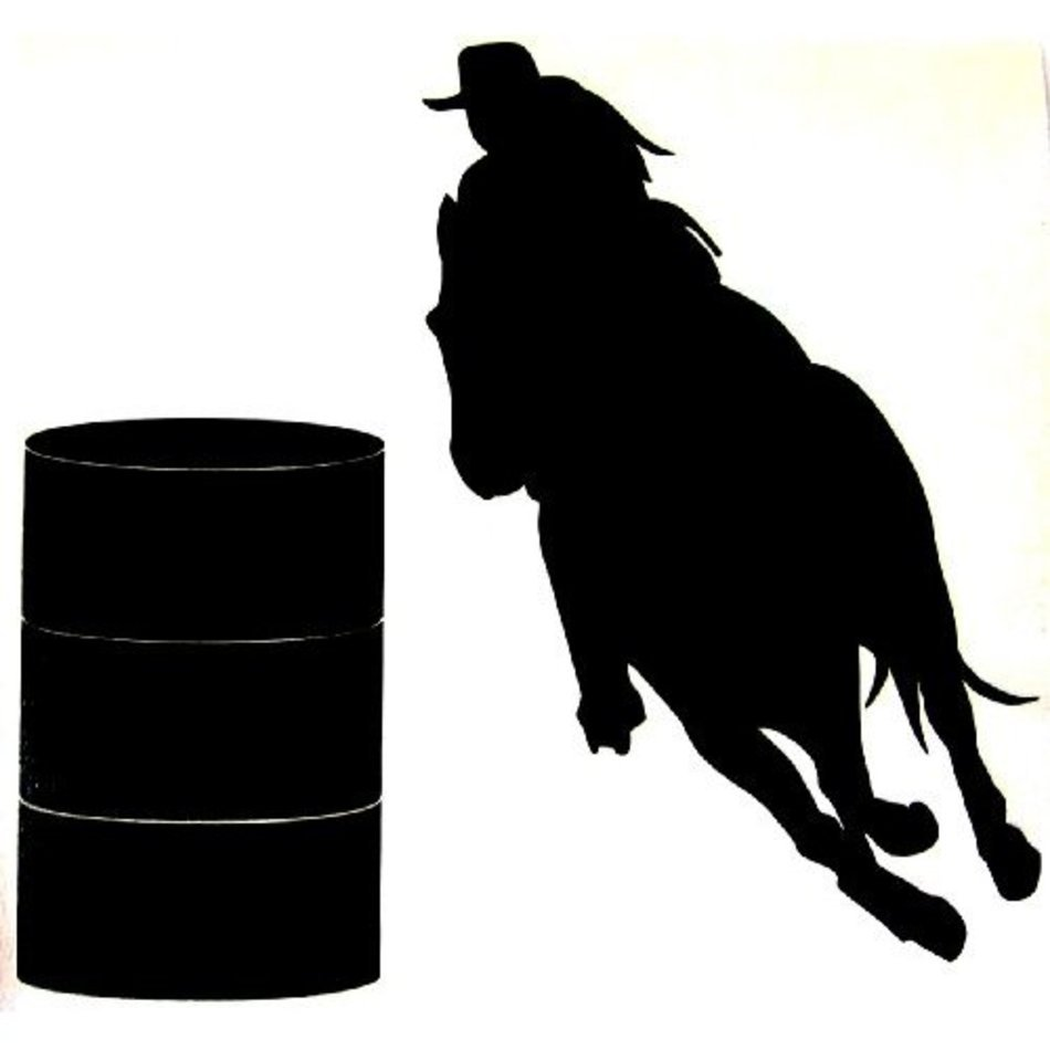 medium resolution of cowgirl barrel racing horse silhouette free images