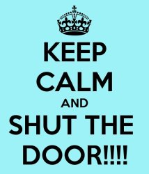 Keep Calm And Shut The Door Carry On Image clipart free image