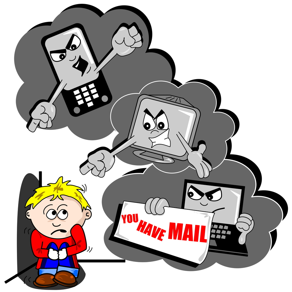 medium resolution of avoiding and responding to cyberbullying clipart